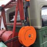 Hilfswinde auf LKW montiert