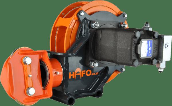 Ansicht der SAPI Winde von vorne, HAFO Forsttechnik GmbH