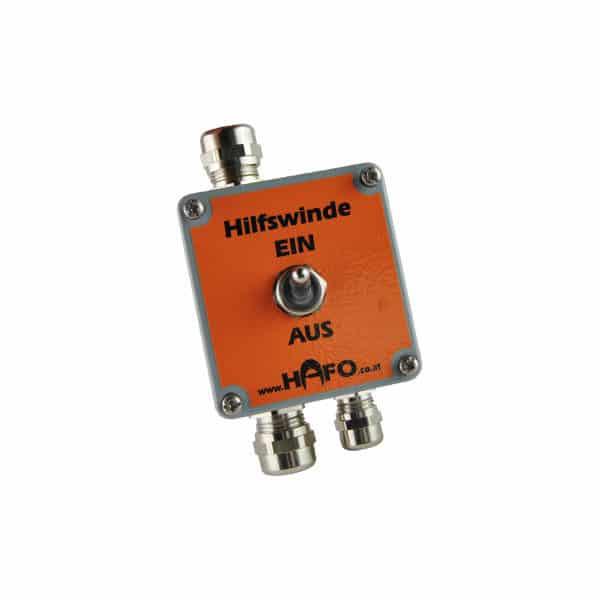 Switchbox zur Integration der Hilfswind ein die bestehende Hydraulik des Geräts
